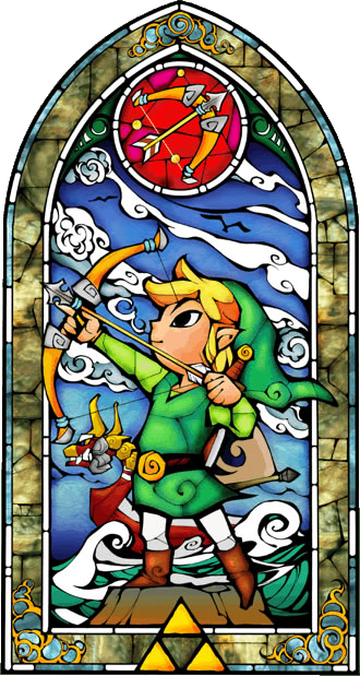 Stained Glass The Wind Waker Link